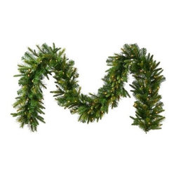 18 in. Cashmere Pre-Lit Warm White LED Garland - About VickermanThis product is proudly made by Vickerman, a leader in high quality holiday decor. Founded in 1940, the Vickerman Company has established itself as an innovative company dedicated to exceeding the expectations of their customers. With a wide variety of remarkably realistic looking foliage, greenery and beautiful trees, Vickerman is a name you can trust for helping you create beloved holiday memories year after year.