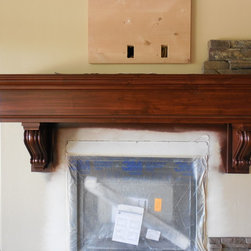 Fireplace mantle to match finish work -
