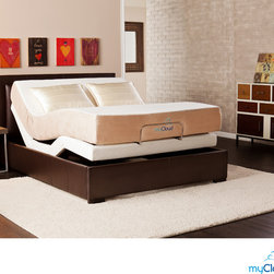 Upton Home - myCloud Adjustable Bed Queen-size with 10-inch Gel Infused Memory Foam Mattress - The adjustable bed by myCloud provides hassle free construction and offers structural integrity, quality and luxury. Featuring the latest in gel technology, the myCloud mattress creates the most enjoyable sleeping experience around.