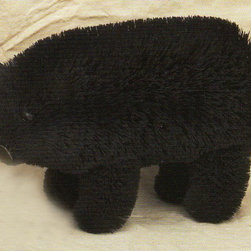 Brushart - Bear Black 10 inch - BrushArt animals are hand made from the most super-abundant and self-regenerating of natural materials: leaves, leaf fibers, seeds, and seed pods, held together with wire and glue. Most important to a BrushArt animal is the buri sugar palm. It is the long