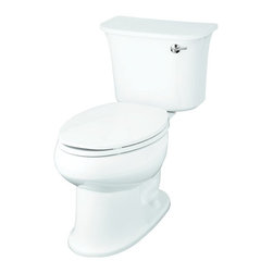 Sterling - Sterling Stinson ProForce Toilet - 402077-RA-0 - Shop for Toilet from Hayneedle.com! The Sterling Stinson ProForce Toilet is a luxury height model with a right-hand flush. This attractive toilet is made entirely from Grade A vitreous china with a protective gloss finish available in your choice of white almond or biscuit. Its elongated design provides extended rim length so adults can use the facilities more comfortably and when they're through a single flush is always more than enough. Only 1.28 gallons are spent per flush thanks to the use of ProForce technology that meets today's strict water conservation standards. Measures 29L x 17.4375W x 29.875H inches and installs with the three-bolt quick-connect system. About SterlingEstablished in 1907 and quickly recognized as a leading manufacturer of faucets and brassware Sterling has been known for their diversity of products and industry-leading designs for over a century. In 1984 Sterling was acquired by Kohler Co. to create a mid-priced full-line plumbing brand and allow Kohler the opportunity to sell their products in retail stores. Over the years Kohler quickly began acquiring other companies to help enhance the Sterling line of products that was quickly growing into the likes of stainless steel sinks compressed fiberglass bathtubs and enclosures and vitreous china products. With that said Kohler was able to take a modestly sized faucet company and turn it into a successful full-line brand. Today Sterling is a brand of Kohler co. and their diversity in products craftsmanship and innovation over a broad range of price points makes them a recognized leader in kitchen and bath design.