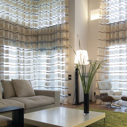 Custom Curtains and Drapes - WINDOW COVERINGS - www.ddccustomwindowfashions.com -Design your custom curtains or drapes for your living room or family room with your choice of over 2000 distinctive fabrics, modern styles, and multiple options.