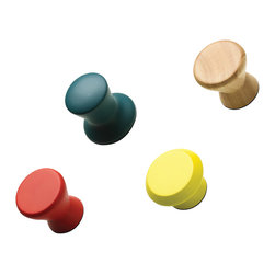 ACCESSORIES - Wall hooks, 4 assorted, 'Grip', rubber wood. Also sold as individual pieces.