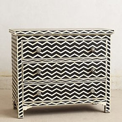 Anthropologie - Chevron Inlay Dresser - *Three drawers