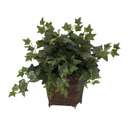 Nearly Natural - Nearly Natural Puff Ivy w/Coiled Rope Planter Silk Plant - Forever green! That's what this Ivy silk plant in coiled rope planter will stay, year after year. We've taken our best representation of faux ivy, and set it so it's literally bursting out of the smartly decorated planter. ���Growing inches here, there, and every which way, this beautiful piece will provide you years of lasting beauty, with nary a drop of water or ray of sun. Buy one for yourself, and another as a gift.