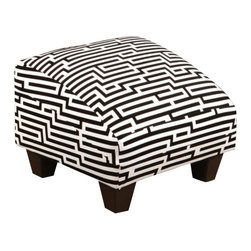 Chelsea Home Furniture - Chelsea Home Patrick Ottoman in Zigzag White - Patrick Ottoman in Zigzag White belongs to Verona III collection by Chelsea Home Furniture