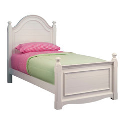 Lea Industries - Lea Hannah Panel Bed in White - Twin - The Hannah Panel Bed has a clean youthful look that is accented in its crisp white finish. This panel bed has soft curves with finessed lines that are sure to delight any little girl. The Hannah Panel Bed includes headboard, footboard, wood rails and slat pack. Each slat fastens with a screw providing additional strength and structural integrity. The Hannah collection by Lea is sure to look great in any girl's room with its soft curves, shaped pilasters, finessed lines, scalloped details, and casual hardware. This collection is offered in a crisp White finish and is crafted from solid hardwoods and painted wood products. The Hannah collection offers many different storage that are perfect for any size room. With the updated country classic styling of the Hannah collection it is sure to be a great fit for your daughter's bedroom! with roots that stretch all the way back to 1869, Lea Industries has been adding its signature style and design to homes around the United States for more than a century. Children's furniture makes up the cornerstone of this topnotch manufacturer's lineup, and Lea has always managed to produce functional, modern - yet sophisticated - furniture for children. Furniture that bears the Lea name is always high quality, versatile and attractive.