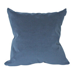 The Pillow Studio - Designer Navy Blue Velvet Pillow Cover Both Sides - You can't go wrong with this classic, textural velvet pillow.