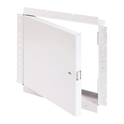 """Best Access Doors - Fire Rated Un-Insulated Access Door with Drywall Flange, High Quality White Powd - 36"""" x 36""""  - Fire Rated Un-Insulated Access Door with Drywall Flange . BA-PFN-GYP access Hatch is not insulated and can only be used on fire rated walls, specifically those made of drywall. Once a sufficient layer of drywall compound is applied to its corner bead flange it will leave only the door panel visible for a much better finished look. As per UL standards, once the installation is complete and the provided springs installed, this access door will be self closing and self locking. It should not be used in situations where protection against temperature elevation is required. The largest fire rated PFN-GYP door available is: (36""""   x 36""""  ).BA-PFN-GYP fire rated access door specifications,  Submittal Sheet - Material: 16 gauge cold rolled steel frame and 20 gauge galvanneal steel door Hinge: Continuous piano hinge Lock / latch: Self latching tool-key operated slam latch and/or ring operated slam latch, both included Inside panel release: Included on all slam latch fire doors Automatic panel closer: Standard on all doors Finish: DuPont high quality white powder coat . For installation in  vertical wall assemblies  2 hour fire barrier, rating 1 frac12  hours. Access/Door Frame Assembly (uninsulated) for installation in vertical wall assemblies.  Standards listed: NFPA 252-2003, UL 10b, UL-555, CAN/ULC S112 M90-R2001, CAN/ULC S104-10.   /h3>  MEA # 507-06-M  /h3>  Fire rated by  Intertek - Warnock Hersey"""