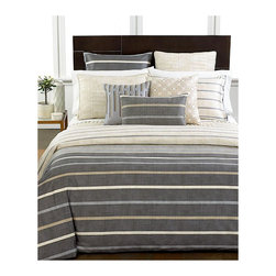 Hotel Collection Modern Colonnade Duvet Cover - I really adore this! The colors are perfect, and stripes are timelessly chic.