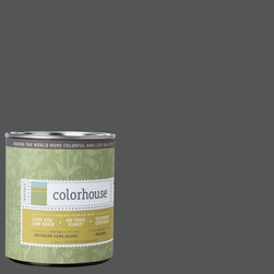 Inspired Semi-Gloss Interior Paint, Metal .05, Quart - Colorhouse paints are zero VOC, low-odor, Green Wise Gold certified and have superior coverage and durability. Our artist-crafted colors are designed to be easy backdrops for living. Colorhouse paints are 100% acrylic with no VOCs (volatile organic compounds), no toxic fumes/HAPs-free, no reproductive toxins, and no chemical solvents.