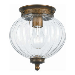 Crystorama - Crystorama 5780-AB Camden Ceiling Mount - Camden Collection offers a mix of traditional bell jar lanterns, flush and semi flush mounts.