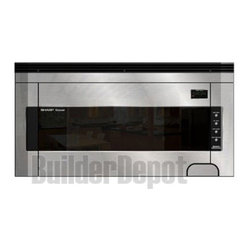 Sharp - 1.5 CF OTR Microwave - 1000-watt over the range microwave oven with 1.5 cu. ft. capacity|Powerful 300 CFM ventilation system with 2-speed fan, work light and night light|7-digit, 2 color, lighted display and concealed Auto-Touch control panel|Concealed auto touch control panel|14.1 inch glass carousel turntable|Interactive cooking system with custom help|Sensor cook center includes 11 settings|Instant Action keys|Defrost Center|Minute Plus gives one more minute of high cooking at a touch|  sharp. r1514t|r-1514t| microwave| oven| over the range| 1.5 cu. ft.| 1000w| 1000 watt| turntable| carousel| lcd display  Package Contents: stainless steel microwave|turntable|manual|manual  This item cannot be shipped to APO/FPO addresses  Sharp will no longer take back any Sharp product as a DOA.