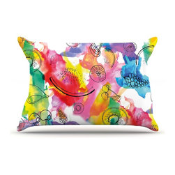 "Kess InHouse - Danii Pollehn ""Fruits"" Rainbow Pillow Case, Standard (30"" x 20"") - This pillowcase, is just as bunny soft as the Kess InHouse duvet. It's made of microfiber velvety fleece. This machine washable fleece pillow case is the perfect accent to any duvet. Be your Bed's Curator."