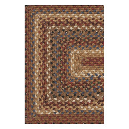 """Cottage Braids CTG4501 Rug - 2'3""""x3'9""""OVAL - The Cottage Braids collection by Surya inspires thoughts of country living. These rugs are braided from 100% cotton and come in deep, rich colors. The absorbancy of these rugs makes them particularly useful in entryways and kitchens. These high quality rugs can enhance any room style."""