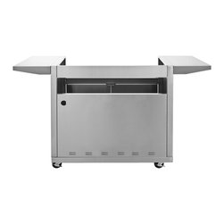 Blaze - Blaze 5 Burner Basic Cart Only - This Blaze stainless steel grill cart is specifically designed to house the Blaze 40-Inch 4 burner gas grill. The two stainless steel side shelves keep your BBQ tools at hand and provide a convenient work area while you cook. The Blaze grill cart also features two front doors with rounded handles to access the cabinet below the grill where you can store your propane tank, grill cover and BBQ accessories.