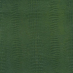 Gator Wallpaper - I like this green alligator wallcovering a lot. It's a subtle shade of green that I think would look really nice in a study or an office — or any space that is calling for a little more formality. The print has a hint of fun though, so it's not too stuffy.
