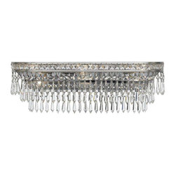 Crystorama Lighting - Crystorama Lighting 5265-OS-CL-MWP Mercer Transitional Bathroom Light - Crystorama Lighting 5265-OS-CL-MWP Mercer Transitional Bathroom Light In Olde Silver With Hand Cut Crystal