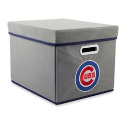 Owner's Box, Llc - MLB Chicago Cubs Royals Fabric Storage Cube with Cover - Keep your home or office organized with these stackable cubes. These cubes come with covers and are designed to fit both letter and legal sized file folders. Perfect for any room, these cubes feature the logo of your favorite MLB team.