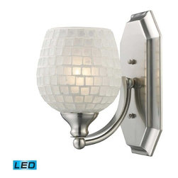 Elk - Vanity Bathbar White/1/Satin Nickel/LED Bulb -1N-WHT-LED - Elk products are highly detailed and meticulously finished by some of the best craftsmen in the business.