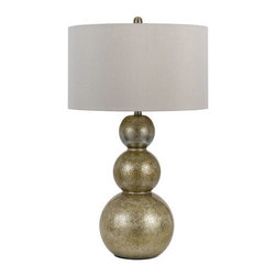 Cal Lighting - Cal Lighting BO-2567TB Leon 1 Light Pedestal Base Table Lamp - Features: