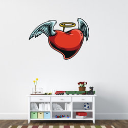 Heart Vinyl Wall Decal HeartUScolor009; 72 in. - Vinyl Wall Decals are an awesome way to bring a room to life!
