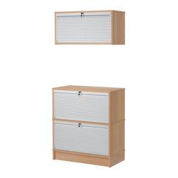 IKEA of Sweden - EFFEKTIV Storage combination - Storage combination, beech veneer, aluminum