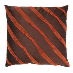 Rizzy Home - Orange and Brown Decorative Accent Pillows (Set of 2) - T03014 - Set of 2 Pillows.