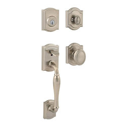 Baldwin Hardware - Prestige Wesley Single-Cylinder Handleset w/ Carnaby Entry Knob in Satin Nickel - Baldwin has a 60 year legacy of craftsmanship and innovation. Rated #1 in quality by builders and contractors, Baldwin is pleased to offer a line of luxury hardware for the discriminating consumer, our Prestige Series.