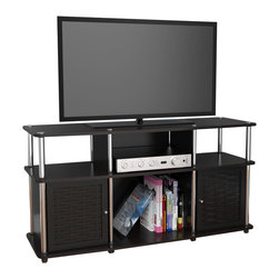 Convenience Concepts - Convenience Concepts Chelsea TV Stand X-BB373151 - Modern styling is the essence of the Chelsea TV Stand. Featuring six spacious storage compartments and weaved bamboo doors, this TV stand is a great choice to fit any living room d&#233:cor.