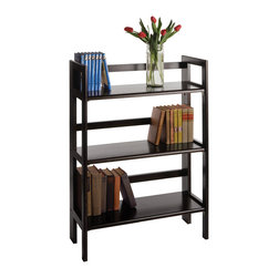 Winsome Wood - Winsome Wood 20896 3-Tier Folding and Stackable Shelf in Black - Shelf 1