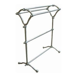 Kingston Brass - Pedestal Y-Type Towel Rack - Kingston Brass' bathroom accessories are built for long-lasting durability and reliability. They are designed so you can easily coordinate matching pieces. Each piece is part of a collection that includes everything you need to complete your bathroom decor.