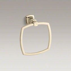 KOHLER - KOHLER Margaux(R) towel ring - Margaux combines traditional, elegant lines with contemporary touches. This sleek towel ring provides a convenient location to hang your hand towels and reflects the classic style of Margaux faucets and accessories.
