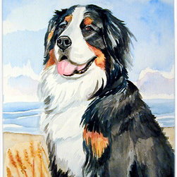 Caroline's Treasures - Bernese Mountain Dog Glass Cutting Board Large Size - Large Cutting Board .. . Made of tempered glass, these unique cutting boards are some of your favorite artists prints. 15 inches high and 12 inches long, they will beautify and protect your counter top. Heat resistant, non skid feet, and virtually unbreakable!