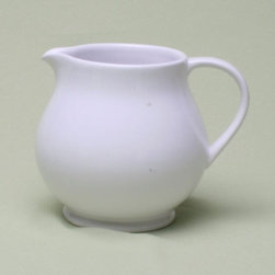 Tag Everyday - Flea Market Small Footed Pitcher in White - Hand washable. Piece has a unique detailed edge. Made from earthenware with a shiny glazed finish. 4.13 in. Dia. x 5 in. HTag's flea market collection inspired from 18th and 19th century European dinnerware found in the famous pairs Marche Des Puces(Paris flea market), our line of updated and generously sized serveware is the perfect collection to mix and match with current tabletop favorites.