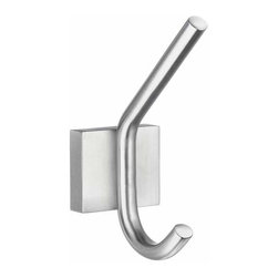 Smedbo - Smedbo House Bath Robe Hook, Brushed Chrome - Smedbo House Bath Robe Hook, Brushed Chrome