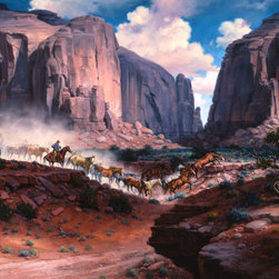 Murals Your Way - The Arroyo Wall Art - Painted by Jack Sorenson, the The Arroyo wall mural from Murals Your Way will add a distinctive touch to any room