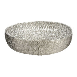 "Lazy Susan - Lazy Susan 559006 Twisted Wire Bowl - Large - Here's a twist that'll make you want to shout, ""Hooray!"" Nickel-finished iron wire is twisted and woven into a bowl shape that looks great on its own or filled with fruit or decorative items. It's available in three sizes, so you can twist again and again."