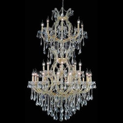 """Elegant Lighting 2801D36SG/SS 34 Light Maria Theresa Crystal Chandelier - Additional 10% Discount: Coupon code """"Houzz"""""""