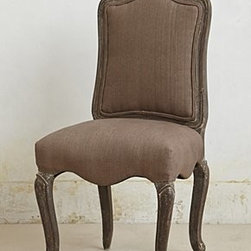 Anthropologie - Linen Beatrix Chair - *Grey-washed finish