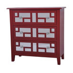 Roxy Bright Red 3 Drawer Mirrored Chest - Roxy Bright Red 3 Drawer Mirrored Chest 32 x 14 x32 Accent Furniture ETA Shipping Early December 2013 32 x 14 x 32