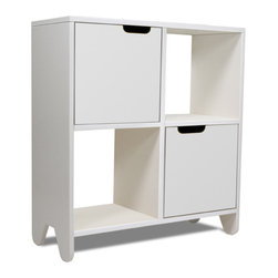 Spot on Square - Hiya Book Shelf, Polar White MDF - Designed by Bob Springer, part of the Spot on Square Hiya Collection. Meets or exceeds US mandatory and voluntary safety standards developed by the ASTM (American Society for Testing and Materials).