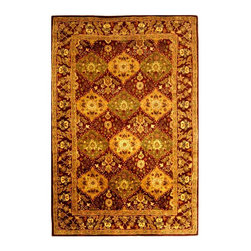 Safavieh - Persian Style Wool Rug in Wine (6 ft. Round) - Size: 6 ft. Round. Hand Tufted. Made of Wool.