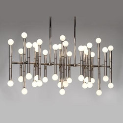 Robert Abbey Lighting - Robert Abbey Jonathan Adler Meurice Rectangular Chandelier in Polished Nickel - Jonathan Adler Meurice Rectangular Chandelier in Polished Nickel by Robert Abbey.
