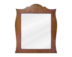 """Hardware Resources - Lyn Design Bathroom Mirror - Golden Maple French Regency Mirror by Lyn Design 28"""" x 33"""" golden maple mirror with beveled glass Corresponds with VAN039-T -"""