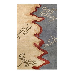 """Noble House - Elegant Beige/Blue Rug - Hand Tufted quality, in a premium and high end segment, produced with semi hard twist handspun yarn of best imported wool, similar to Ghazni. The tie dye dyeing technique provides a rustic and lustrous look to the modern and contemporary designs articulated with a thick body to justify value of the product. Features: -Depending on amount of traffic on rugs, professional cleaning or washing is required every 1 to 2 years..-Handmade.-Do not expose rugs in direct sun light for longer time as it could result in faded colors of rugs..-Collection: Elegant.-Distressed: No.-Collection: Elegant.-Construction: Handmade.-Technique: Tufted.-Primary Color: Beige/Blue.-Type of Backing: Latex.-Material: Wool.-Fringe: No.-Reversible: No.-Rug Pad Needed: No.-Water Repellent: No.-Mildew Resistant: No.-Stain Resistant: No.-Fade Resistant: No.-Eco-Friendly: No.-Recycled Content: No.-Outdoor Use: No.-Product Care: In case of liquid, blot clean with undyed cloth by pressing firmly around the spill to absorb as much as possible..Specifications: -CRI certified: No.-Goodweave certified: No.Dimensions: -Pile Height: 0.75"""".-Overall Product Weight (Rug Size: 3'6"""" x 5'6""""): 25 lbs.-Overall Product Weight (Rug Size: 5' x 8'): 45 lbs.-Overall Product Weight (Rug Size: 8' x 11'): 75 lbs.-Overall Product Weight (Rug Size: Runner 2'3"""" x 8'): 20 lbs.Warranty: -Product Warranty: No warranty."""