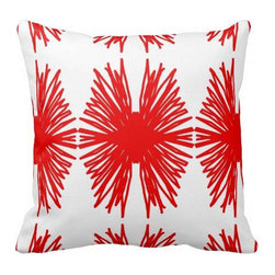 The Textile Co. - Orange Mum Designer Pillow in Designer Fabric - 20 x 20 - Orange Mum Designer Pillow 20 x 20