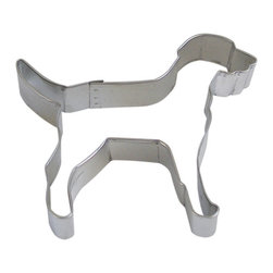 RM - Labrador Retreiver Dog 4 In. B1206X - Labrador Retreiver Dog cookie cutter, made of sturdy tin, Size 4 in., Depth 7/8 in., Color silver