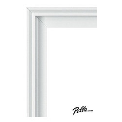 EnduraClad® Exterior Finish in White - Available on Pella Architect Series® and Designer Series® wood windows and patio doors, EnduraClad exterior finishes offer 27 standard and virtually unlimited custom color options.