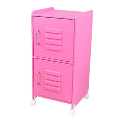 Kidkraft - KidKraft Bubblegum Medium Locker - Kidkraft - Toy Boxes and Chests - 14326 - Our Medium Locker is the perfect way to keep rooms tidy. This durable locker would look great in any child's room and helps kids organize everything from their favorite toys to important school supplies. Kids really love the metal look too it's just like the big kids in high school!